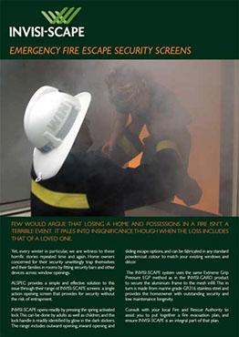 Invisi-scape security screen brochure