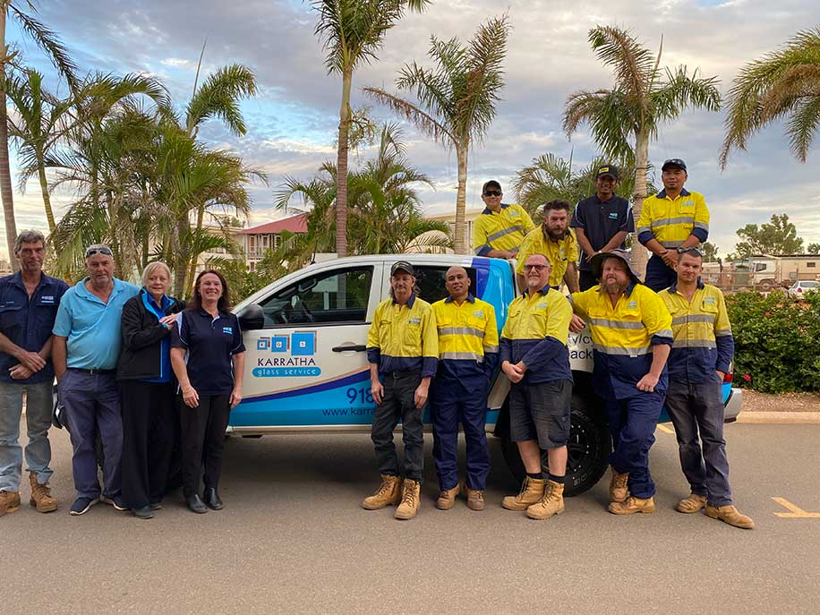 Team Karratha Glass Service